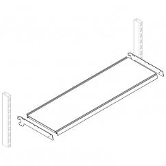 Полка наклонная большая (ширина 41 см)(L45,30*)*