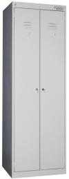 Металлические шкафы для одежды ШРК-22-800 собранный